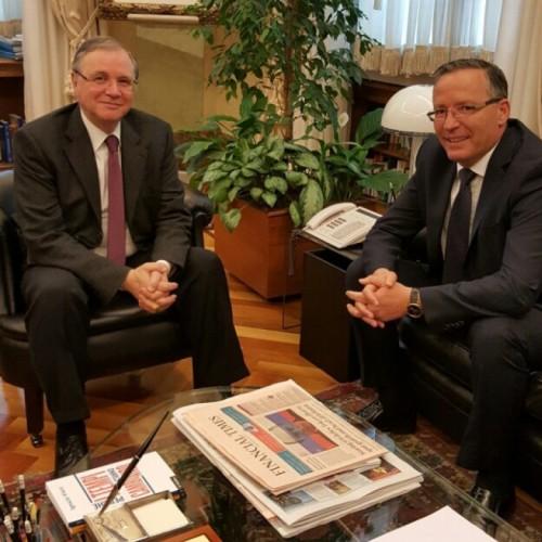 Guvernatori Bedri Hamza takon Guvernatorin e Bankës Qendrore të Italisë z.Ignazio Visco