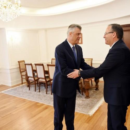 Presidenti Thaçi priti Guvernatorin e BQK-së, Bedri Hamza