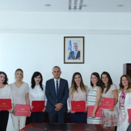 BQK-ja ndau certifikata për studentët pjesëmarrës të programit të praktikës profesionale
