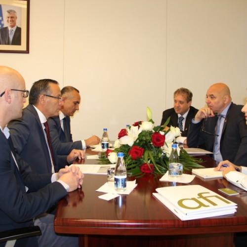 Guvernatori z. Bedri  Hamza priti në një takim  në Bankën Qendrore të Republikës së Kosovës drejtorin e  Aleancës për Përfshirje Financiare  AFI  z.Alfred Hannig