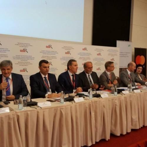 """Zëvendësguvernatori Mehmeti po merr pjesë në Samitin """"Stabiliteti regjional financiar në ambientin e ri global"""" që po mbahet në Beçiç të Malit të Zi"""