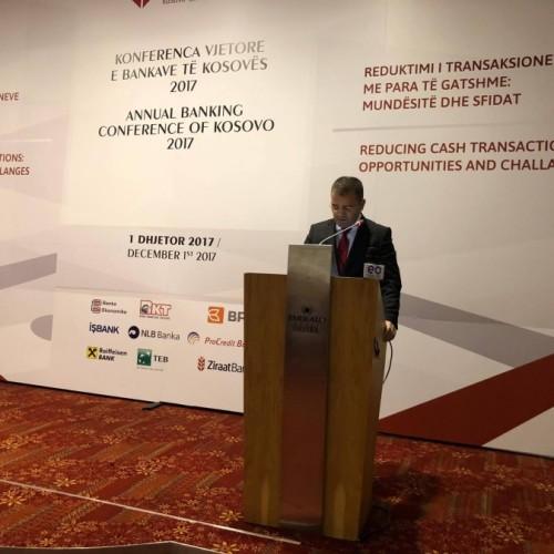 Fjalimi i U.D. i Guvernatorit Mehmeti në Konferencën vjetore të Shoqatës së Bankave të Kosovës