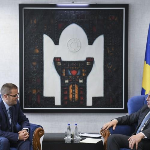Kryeministri Haradinaj priti në takim Guvernatorin e Bankës Qendrore të Republikës së Kosovës z.Fehmi Mehmeti