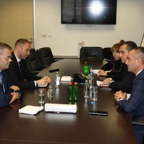 Përfaqësues të BQK-së u takuan me drejtuesit e Agjencisë së Mbikëqyrjes së Sigurimeve të Maqedonisë së Veriut